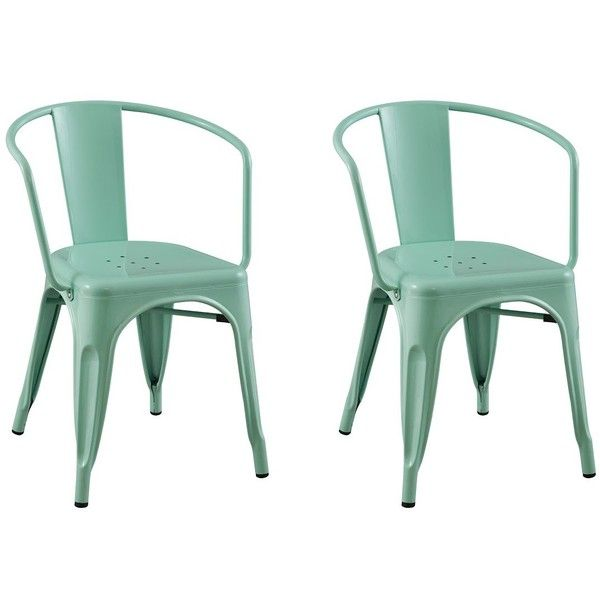 Dining Chair: Carlisle Metal Dining Chair   Mint Green (130 CAD) ❤ Liked