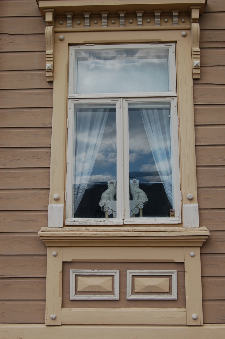 Waiting the master of the house to arrive home. A detail of a house in Old Rauma, Finland.