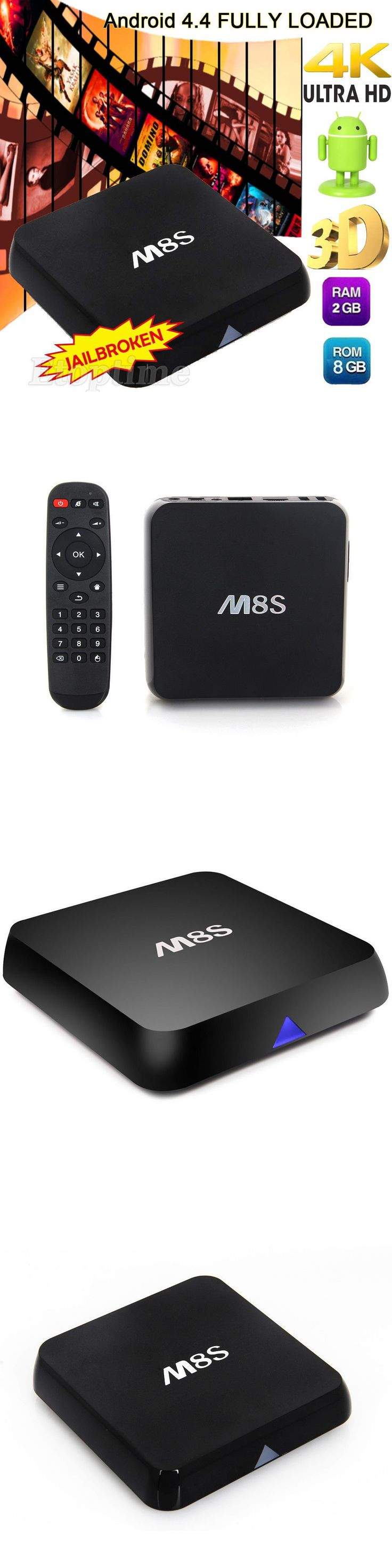 Cable TV Boxes: Hot M8s 2G+8G Amlogic S812 4K Android Smart Tv Box Quad Core Fully Loaded BUY IT NOW ONLY: $45.49