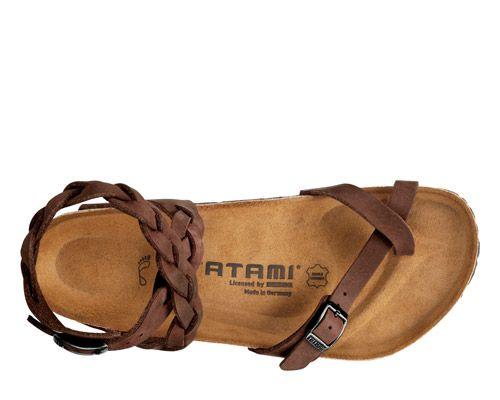 Tatami Yara Classic Woven Habana Brown Leather Womens