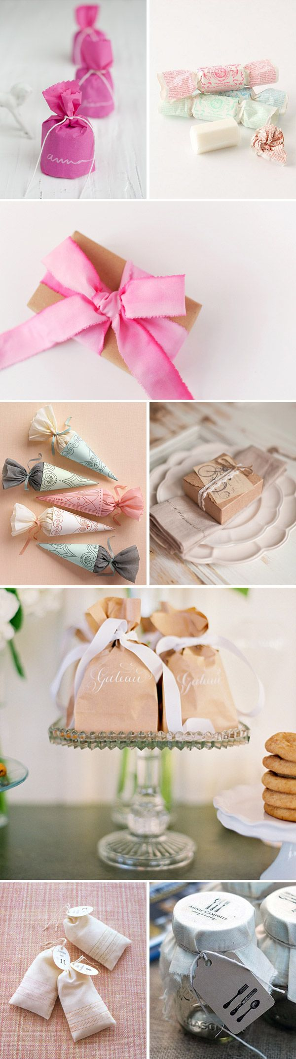 Beautifully Wrapped Wedding Favours