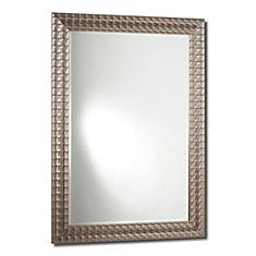 David Mirror, Sterling Silver - 24 Inch x 36 Inch