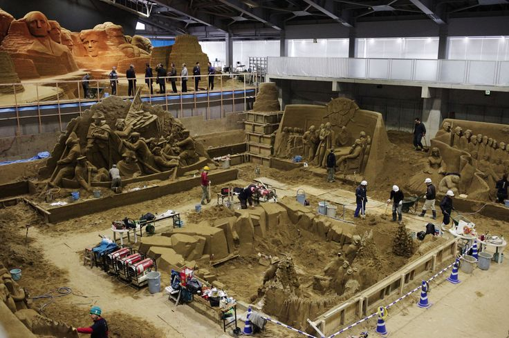 Officials in Tottori, Japan, are trying to attract more foreign tourists, and an exhibit of improbably intricate sand sculptures is central to the effort.