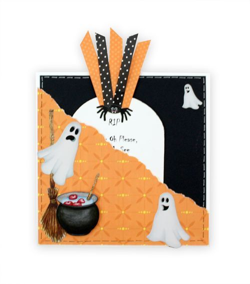 Classic Halloween Stickers Scrapbooking Card Idea from Creative Memories