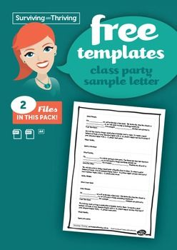 Inform parents about a class party and the requirements.