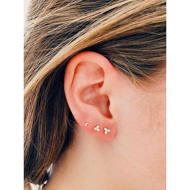 How cute is this combo. Happy costumer #imaginjewels #earstuds #earrings #trio