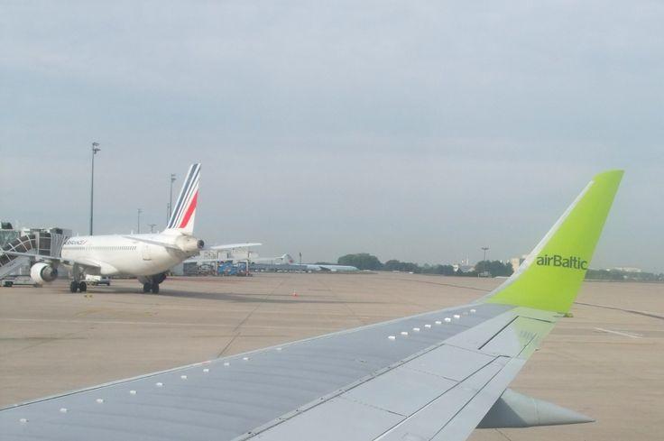 Départ pour la Lettonie avec Air Baltic.