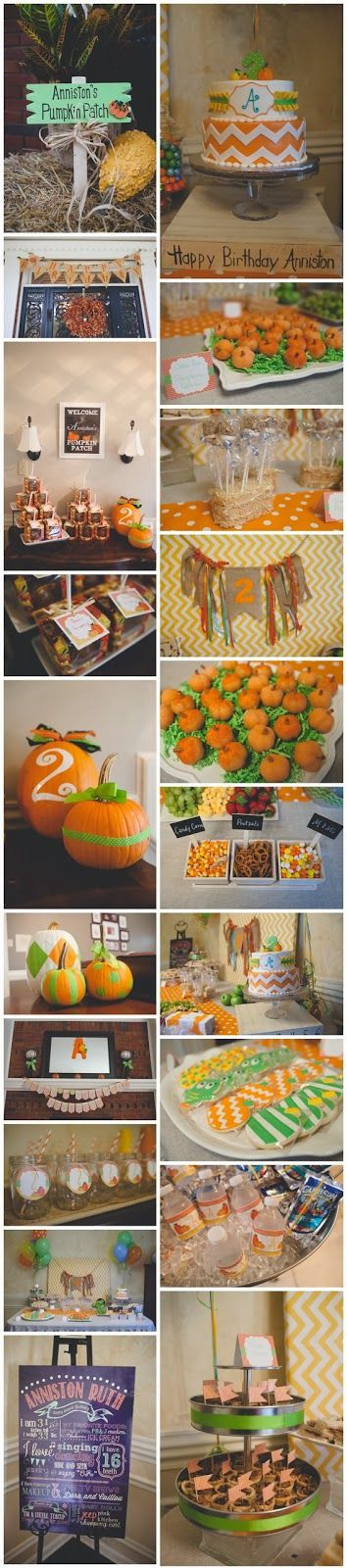I had so much fun planning this party. I didn't battle too long with the theme- once the idea of a pumpkin patch party hit me, I knew tha...