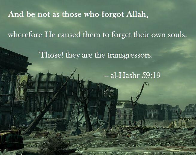 al-Hashr 59:19 as rendered by Abdul Majid Daryabadi
