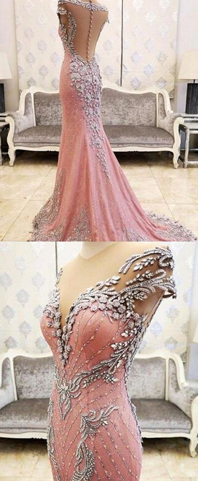 New Arrival Prom Dress,Modest Prom Dress,Luxurious Crystal Pink #prom #party #evening #dress #dresses #gowns #cocktaildress #EveningDresses #promdresses #sweetheartdress #partydresses #QuinceaneraDresses #celebritydresses #2017PartyDresses #2017WeddingGowns #2017HomecomingDresses #LongPromGowns #blackPromDress #AppliquesPromDresses #CustomPromDresses #backless #sexy #mermaid #LongDresses #Fashion #Elegant #Luxury #Homecoming #CapSleeve #Handmade #beading