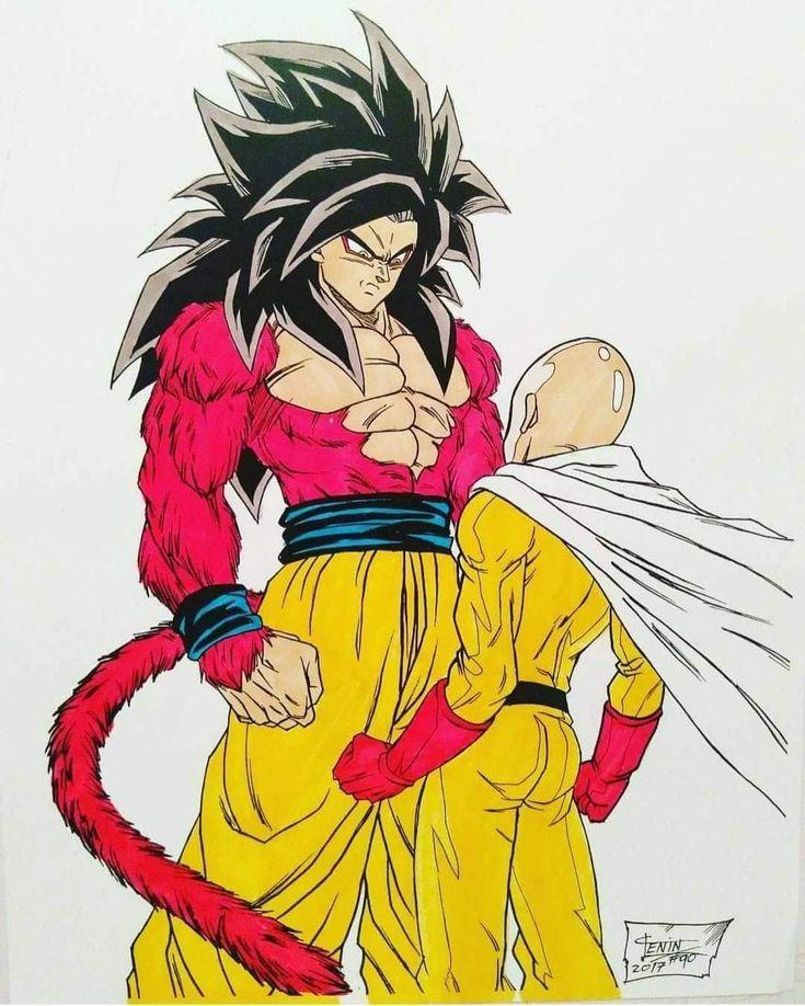 Goku Vs Saitama Dragon Ball Artwork Dragon Ball Art Dragon Ball Super Manga