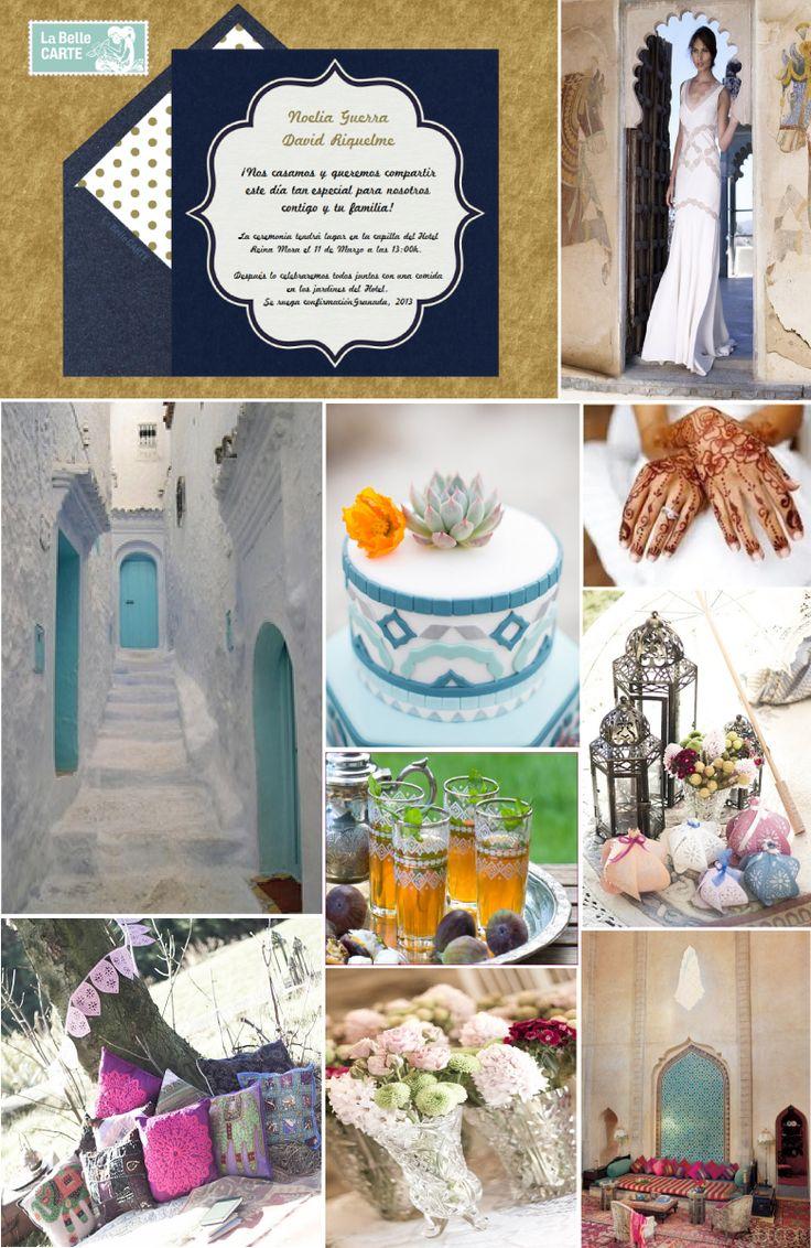 Invitaciones de boda, invitaciones para bodas, ideas para bodas, bodas estilo Marruecos, boda marroquí, decoración marroquí   Para Más Info Visita: www.LaBelleCarte.com  Online wedding invitations, online wedding cards, wedding ideas, morocco wedding, morocco wedding theme, morocco ideas  For More Info Visit: www.LaBelleCarte.com/en