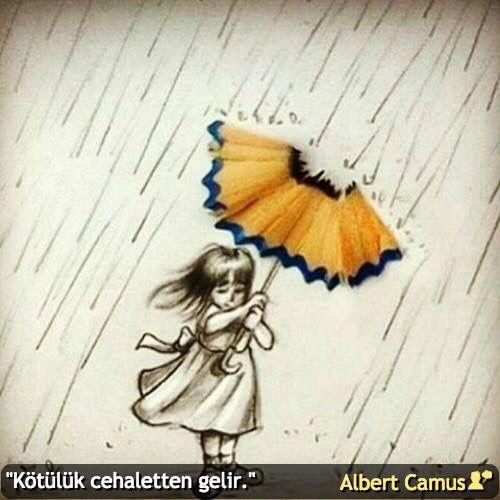 """""""Kötülük cehaletten gelir."""" #AlbertCamus #birsözepikse #özlüsözler #gününsözü #şiirsokakta"""