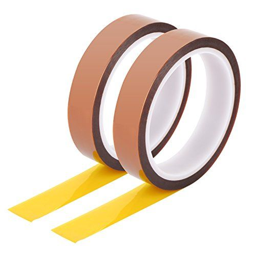 Satinior Heat Resistant Tape High Temperature Tape Polyimide Film Adhesive Tape Insulation Tape, 20 mm by 33 m, 2 Rolls  Heat resistant tape rolls: each tape is 20 mm in width and 33 m/ 108 feet in length, can withstand high temperature up to 260 degrees Celsius  High temperature tape material: made of durable polyimide and silicone, high insulation, high temperature resistant, acid and alkali resistant, dielectric strength is 7000 V  Applications: suitable for protecting sensitive PCB...