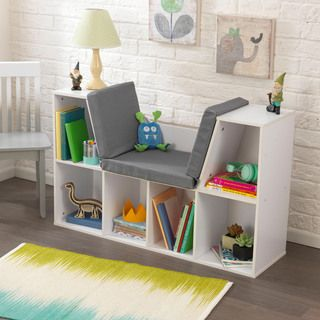 nike outlet store locator ontario KidKraft White Bookcase with Reading Nook
