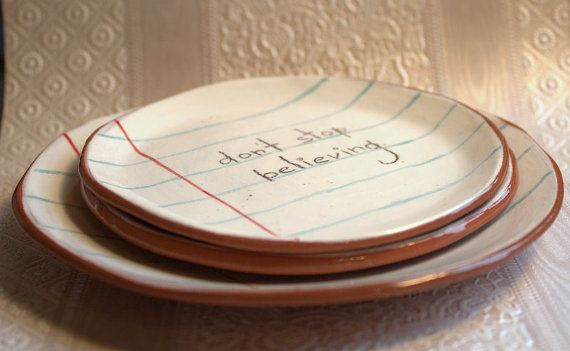 Little refill paper ceramic dish by LittleBright on Etsy