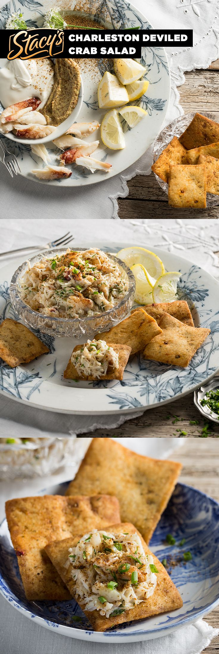 Charleston Deviled Crab Salad from James Beard Award-winning chef Mike Lata. Classic, southern, seaside. Charleston inspired this classic regional recipe.