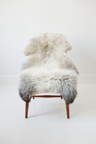Hvid Lammeskind - Large
