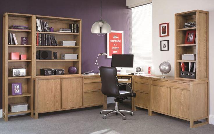 Bentley Designs Studio Oak Home Office Package