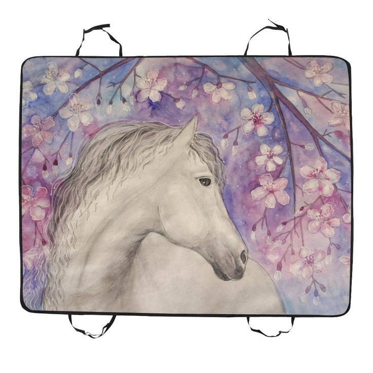 Artsadd Dog Car Seat Cover Beautiful Horse Under Sakura Blossom Tree Pet Car Seat 55.19''x43.31'' Dog Seat Cover for Cars, SUVs, and Trucks *** Want additional info? Click on the image. (This is an affiliate link and I receive a commission for the sales)