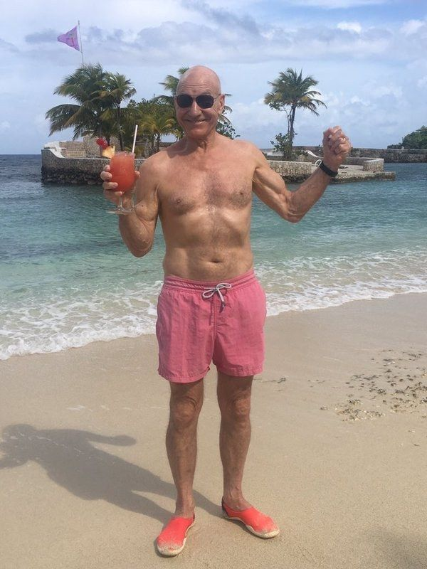 READY? | Based On This One Picture, Patrick Stewart Is Living A Life Far Better Than Yours