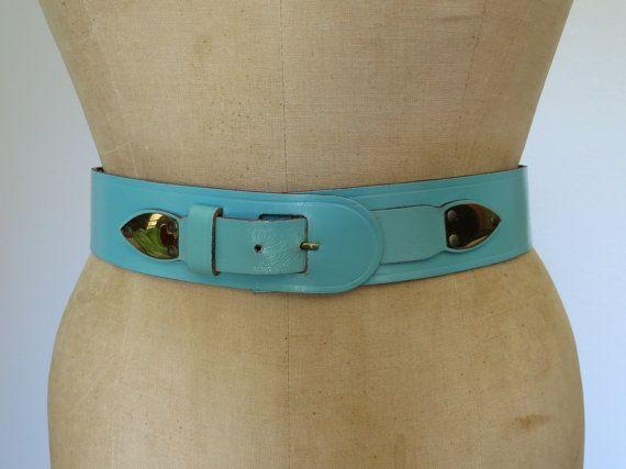 50s leather belt size 28 / Vintage Mahler by swansongvintage1, $15.00