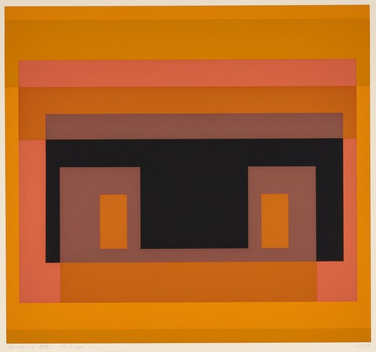 Josef Albers (1888-1976) Variant VIII, from Ten Variants, 1966 Screenprint in colors on wove paper