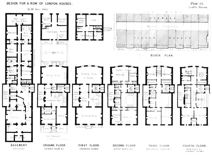 Georgian terraced house in belgravia london laid out for Victorian townhouse plans