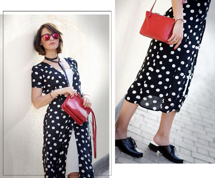 polka-dots-shirt-dress-outfit-for-summer-2016