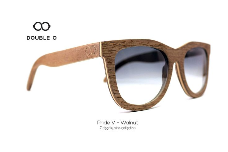 Pride V - Walnut / Handmade Wooden Sunglasses / Made in Crete,Greece