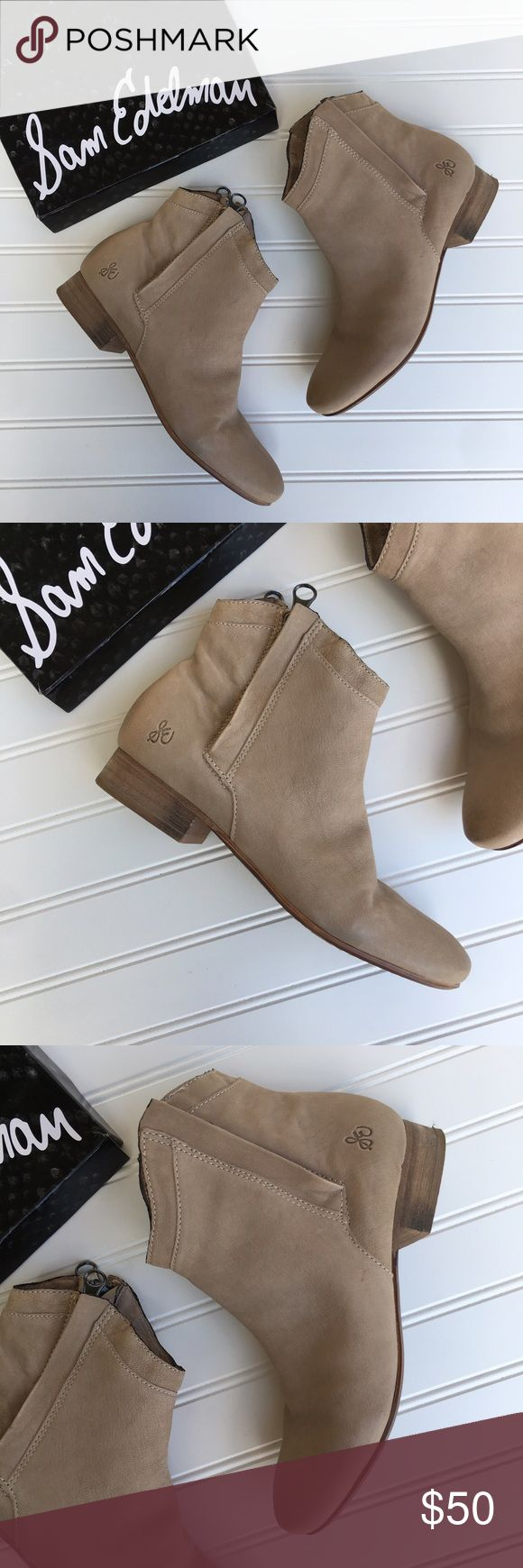 Sam Edelman Taupe Cody Ankle Booties Excellent pre-owned condition lovely Cody dual zip leather taupe ankle booties. Some minor scuffs to the back of the booties and bottoms. Despite that in excellent condition will come in original box. Absolutely beautiful comfortable pair of Booties! Size 7 M             ⚠️ NO LOW BALLERS! Sam Edelman Shoes Ankle Boots & Booties