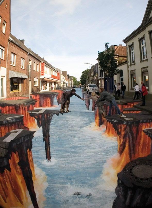 Edgar Mueller Amazing 3D Street Art [http://art-website-creative.com/2011/06/13/edgar-mueller-amazing-3d-street-artist/#]