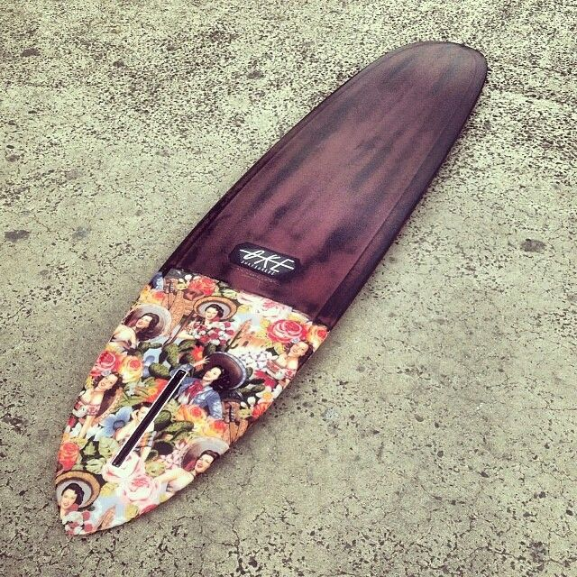 Very unique board with a material taildip and maroon/black pigment..
