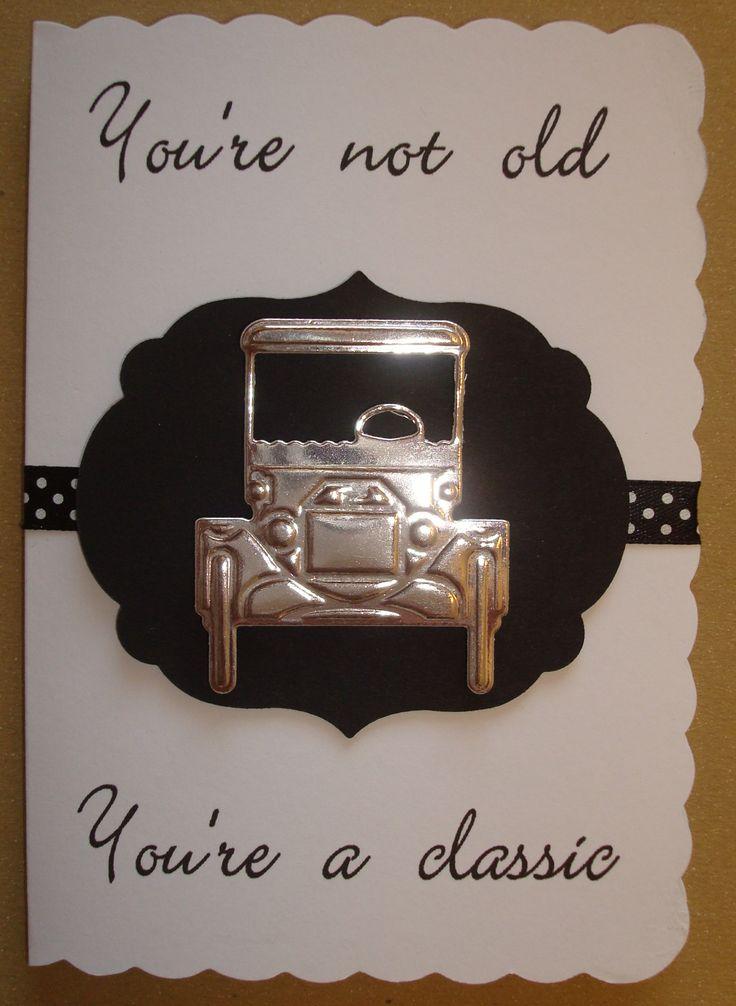 Hand made male birthday card using Marianne ford car die