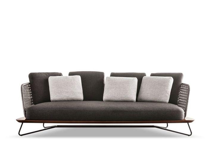 Upholstered 3 seater garden sofa Rivera Collection by Minotti   design Rodolfo Dordoni