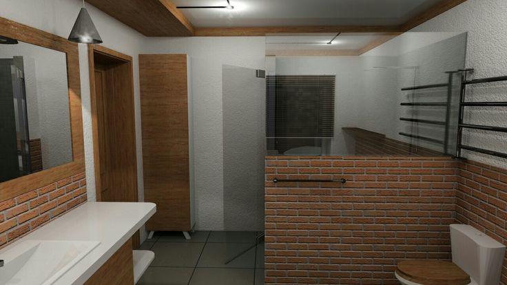Ванная комната. Лофт