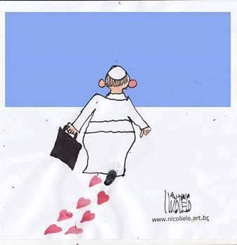 Pope Francis spreading love wherever he goes.