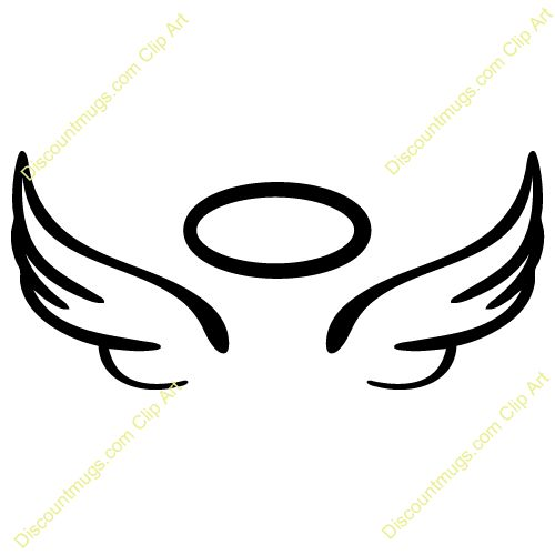 angel wings halo hi free images at clker com vector clip art rh pinterest co uk halo clip art black and white halo clip art free