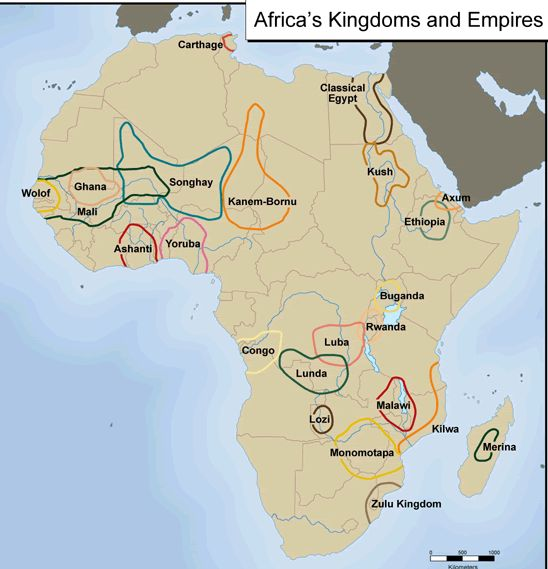 Kongo Civilization | CLICK THE MAP TO JUMP TO AN EMPIRE: This map is not accurate in scale ...