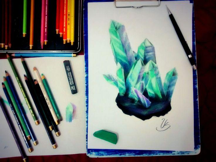 Quartz by Urbane Sailor with Coloured Pencils Koh I Noor Hardtmuth #Art #Quartz #kohinoor