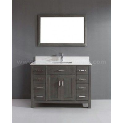 All Bathroom Vanities Studio Bathe Kaleeze French Gray Modern Single Sink  Bathroom Vanity In Bathroom Vanities
