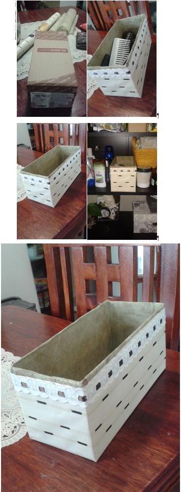 Transforme una caja de zapatos en un organizador para mis - Organizador de zapatos ...