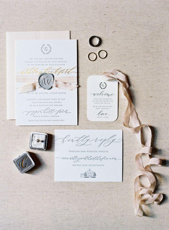 wedding invitations atlanta%0A Romantic white and blush stamped wedding invitation paper suite  http   www