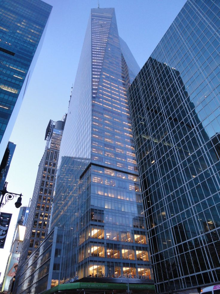 27. Bank Of America Tower in New York City, USA 1200 ft (1 metre shorter than Bank Of China Tower)