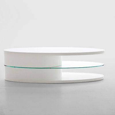 The Actona Push TV Stand has high gloss white finish Glass shelf DimensionsL 150 cm W 40 cm H 45 [...]