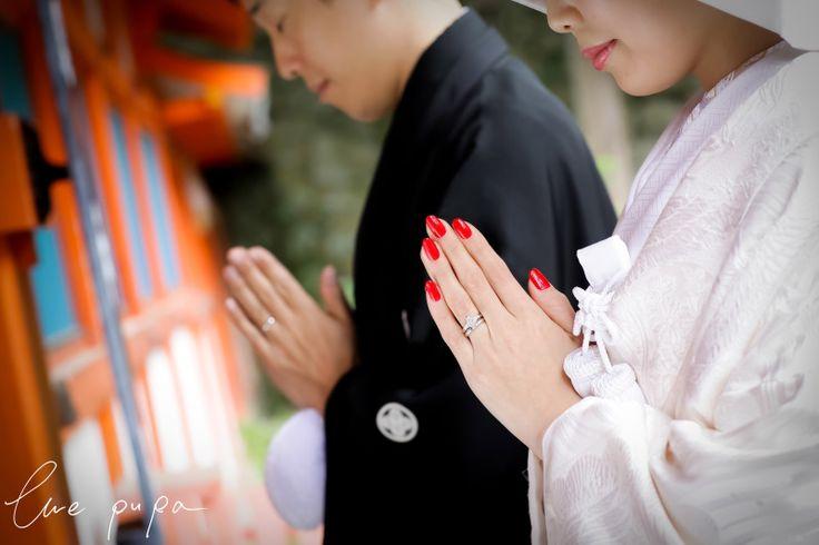 【前撮りレポート】白無垢 × 吉田神社 *ウェディングフォト elle pupa blog*