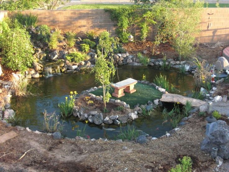 38 best gardening pond images on pinterest backyard for Rock ponds designs