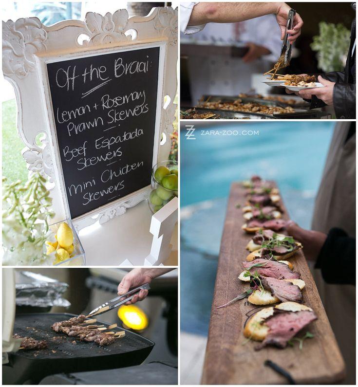 Classy Braai / BBQ at your wedding pre-dinner drinks - ZaraZoo Photography