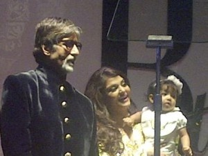 Aaradhya  at  Amitabh Bachchan's birthday party