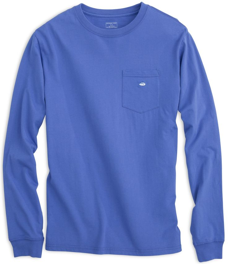 Embroidered Pocket Long Sleeve T-Shirt | Southern Tide